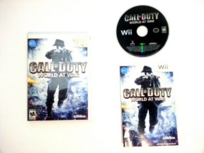 Call of Duty World at War game for Nintendo Wii -Complete
