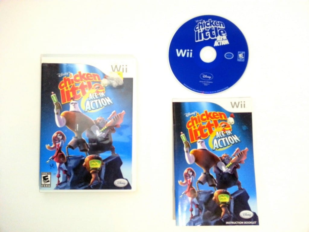 Chicken Little Ace In Action game for Nintendo Wii -Complete