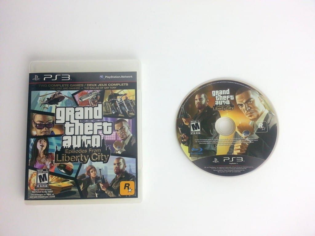 Grand Theft Auto Episodes from Liberty City game for Playstation 3 PS3 Game&Case