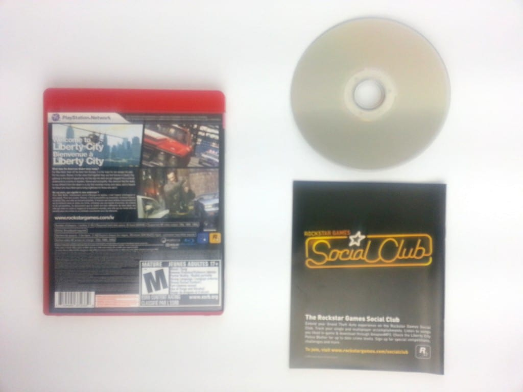 Grand Theft Auto IV game for Playstation 3 (Complete) | The Game Guy