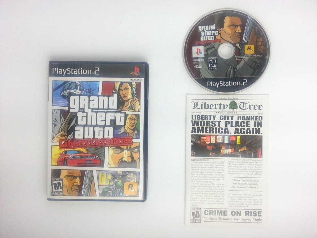 Grand Theft Auto Liberty City Stories game for Sony Playstation 2 PS2  -Complete