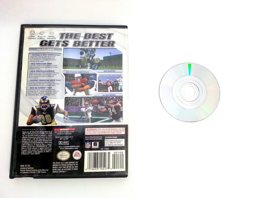 Madden 2003 Football game for Gamecube | The Game Guy