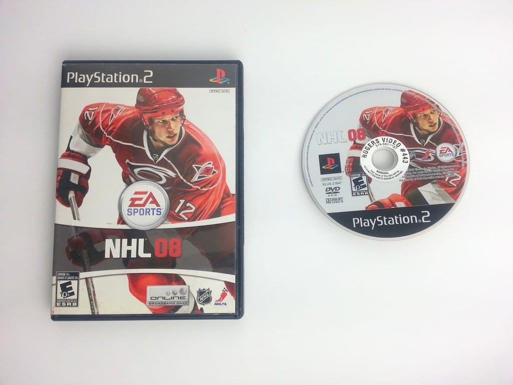 NHL 08 game for Sony Playstation 2 PS2 -Game & Case
