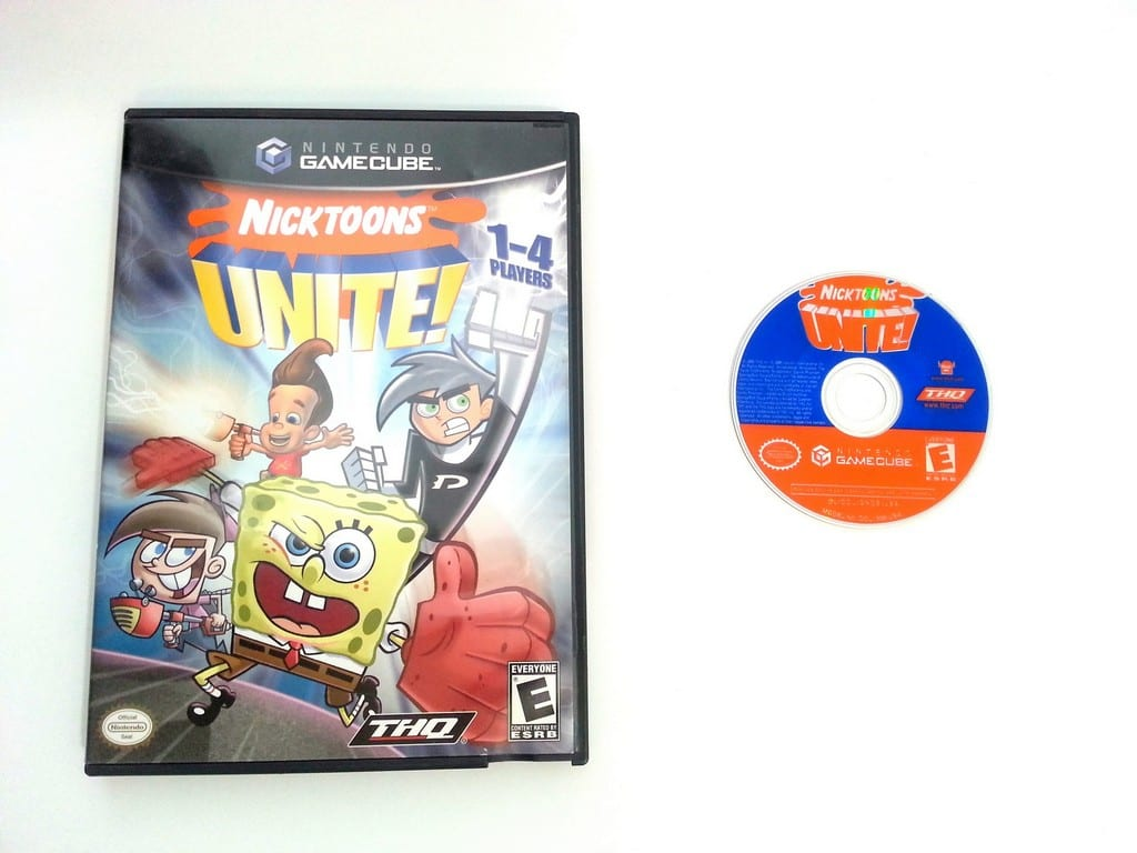 Nicktoons Unite game for Nintendo Gamecube -Game & Case