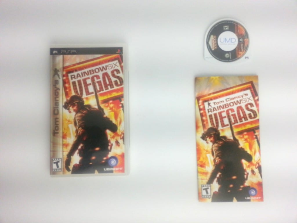 Rainbow Six Vegas game for Sony PSP -Complete