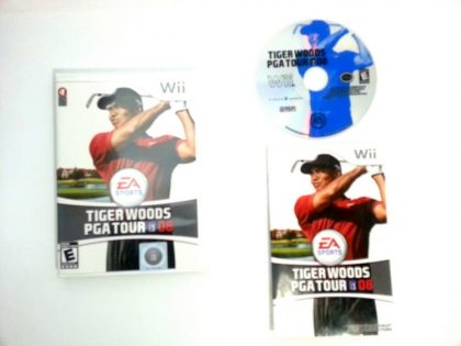 Tiger Woods PGA Tour 08 game for Nintendo Wii -Complete
