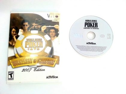 World Series of Poker Tournament of Champions 2007 game for Wii Game&Case