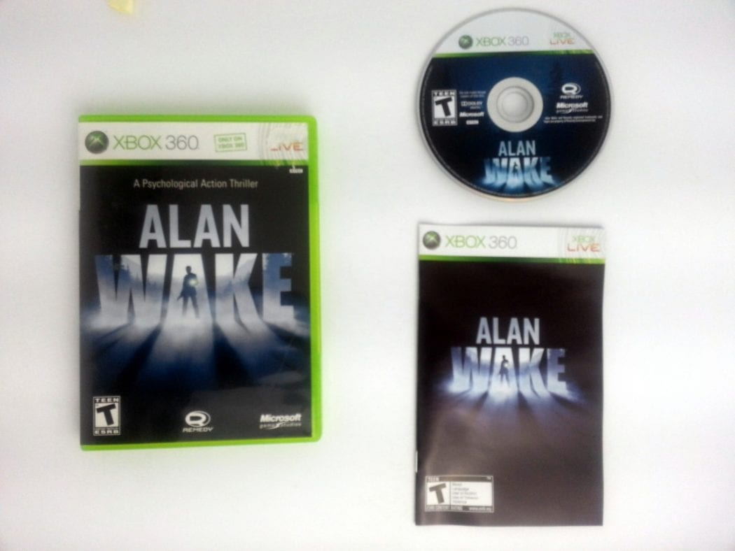 Alan Wake game for Microsoft Xbox 360 -Complete