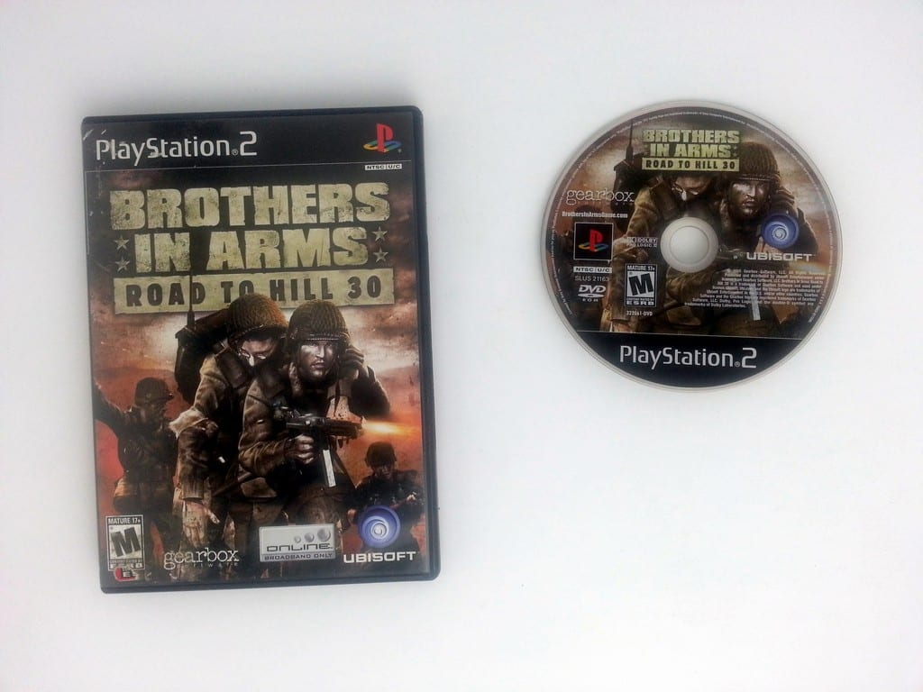 Brothers in Arms Road to Hill 30 game for Sony Playstation 2 PS2 -Game & Case