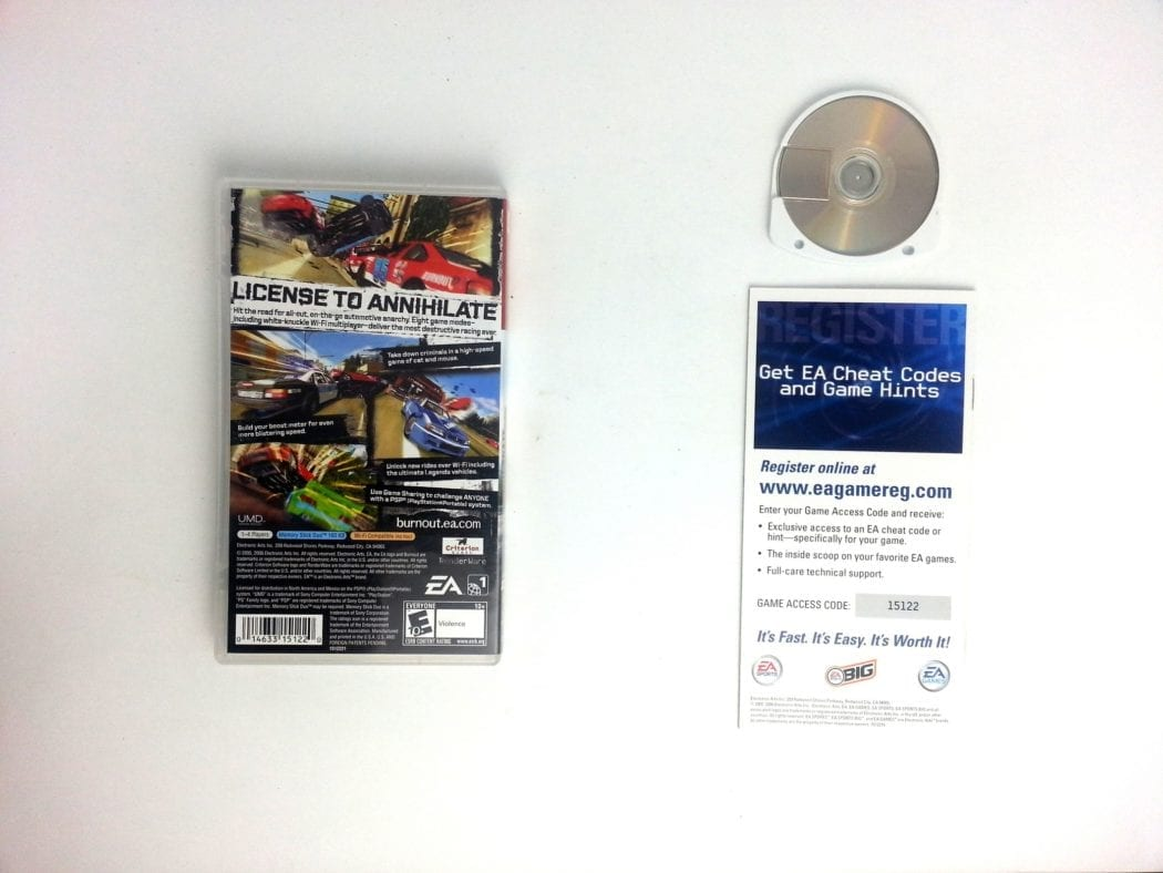 Burnout Legends game for PSP (Complete)   The Game Guy