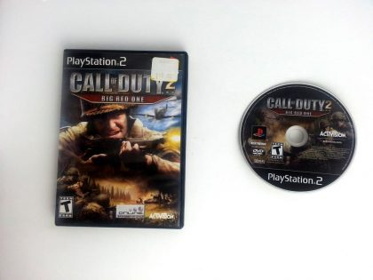 Call of Duty 2 Big Red One game for Sony Playstation 2 PS2 -Game & Case