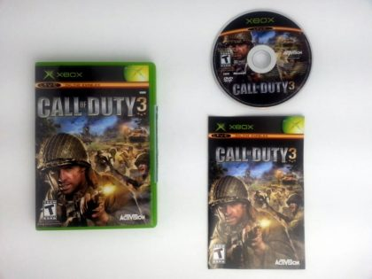 Call of Duty 3 game for Microsoft Xbox -Complete