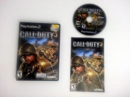 Call of Duty 3 game for Sony Playstation 2 PS2 -Complete