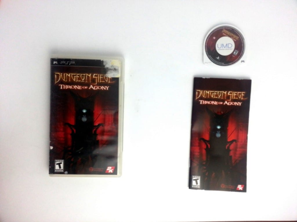 Dungeon Siege Throne of Agony game for Sony PSP -Complete