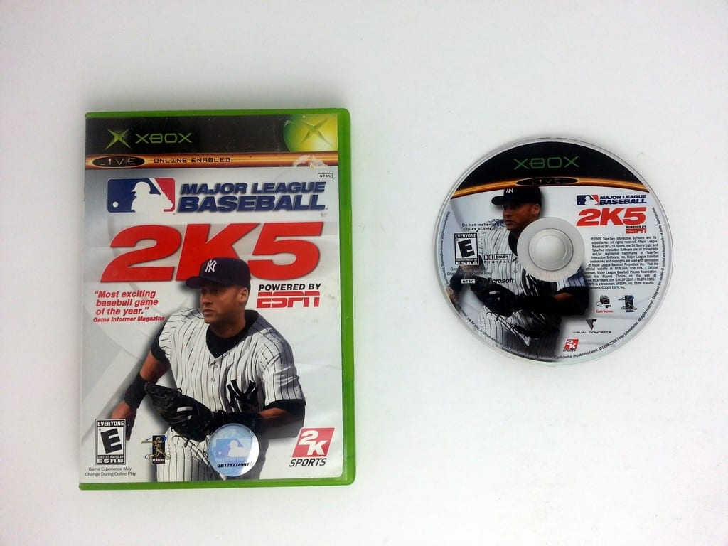 ESPN Major League Baseball 2K5 game for Microsoft Xbox -Game & Case