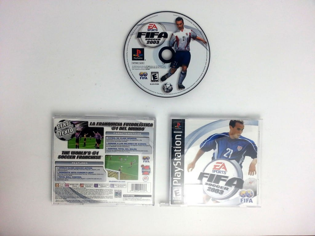 FIFA 2003 game for Sony Playstation PS1 PSX -Complete
