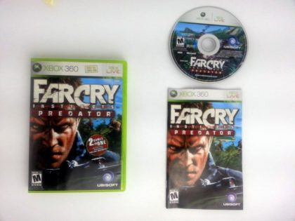 Far Cry Instincts Predator game for Microsoft Xbox 360 -Complete