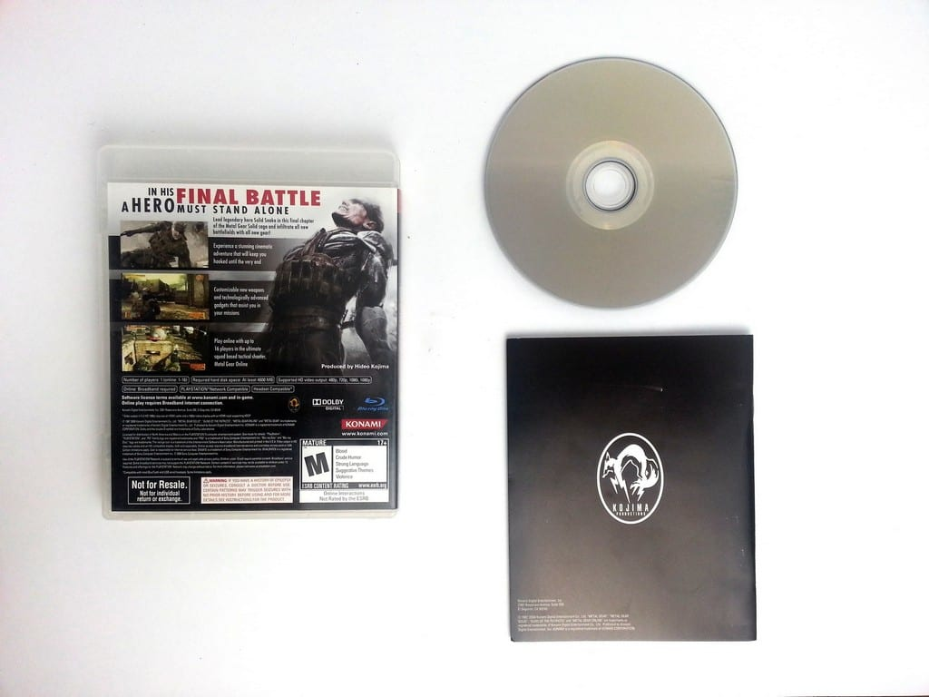 Metal Gear Solid 4 Guns of the Patriots game for Playstation 3 (Complete) | The Game Guy