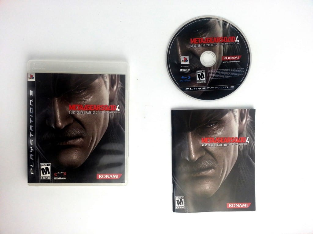 Metal Gear Solid 4 Guns of the Patriots game for Playstation 3 PS3 -Complete