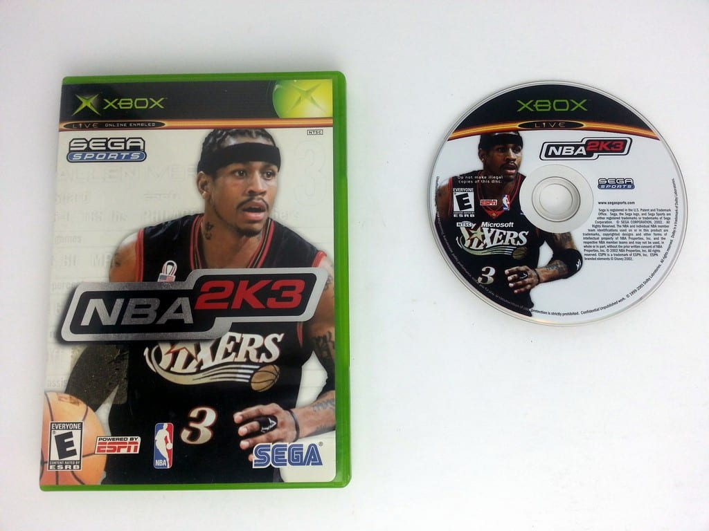 NBA 2K3 game for Microsoft Xbox -Game & Case