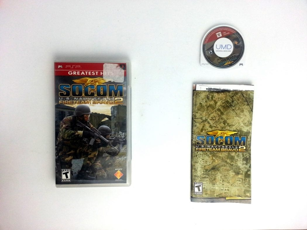 SOCOM US Navy Seals Fireteam Bravo 2 game for Sony PSP -Complete