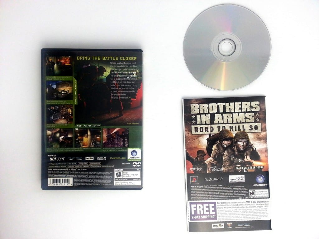 Splinter Cell Chaos Theory Game For Playstation 2
