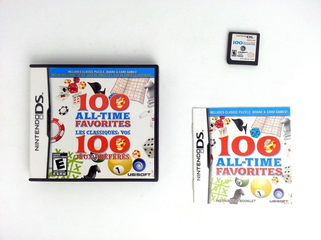 100 All-Time Favorites game for Nintendo DS -Complete