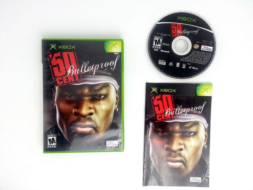 50 Cent Bulletproof game for Microsoft Xbox -Complete