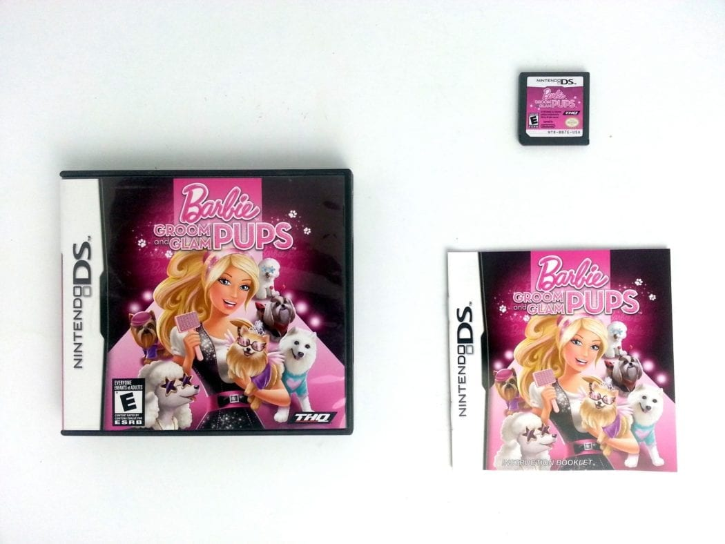 Barbie: Groom and Glam Pups game for Nintendo DS -Complete