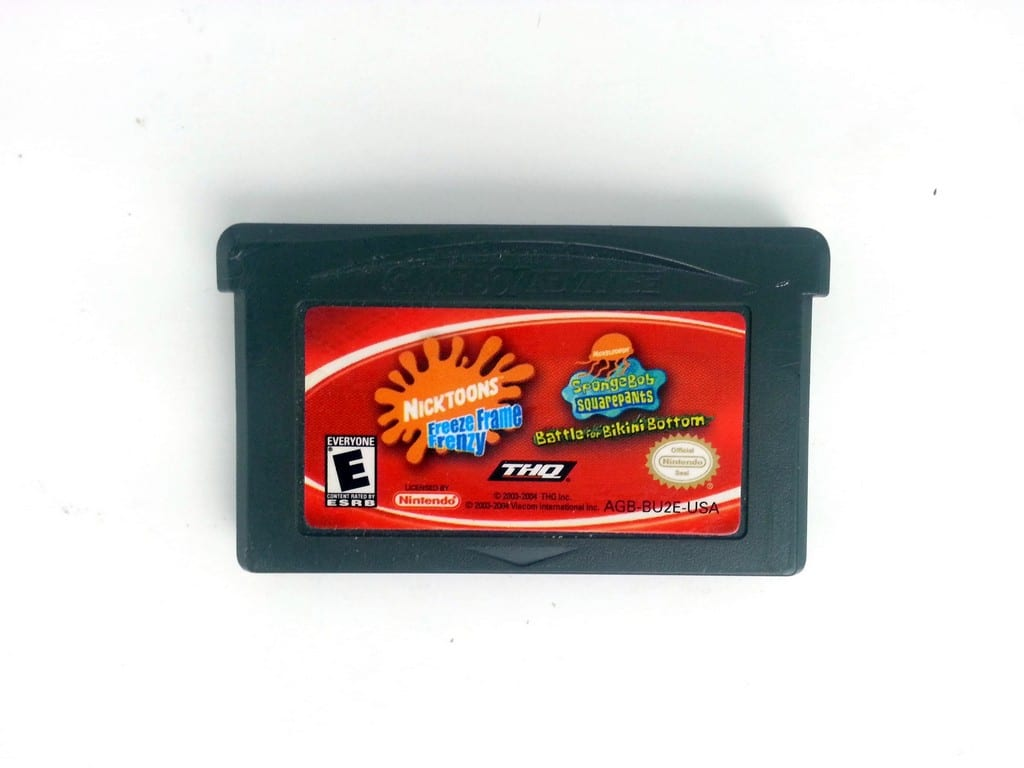 Battle Bikini Bottom & Freeze Frame Frenzy Double Pack Gameboy GBA - Loose