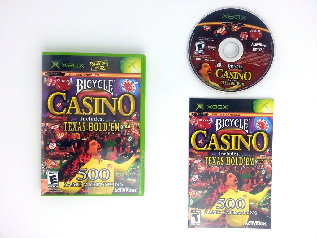 Bicycle Casino game for Microsoft Xbox -Complete