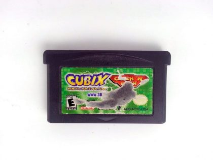 Cubix Robots for Everyone Clash N Bash game for Nintendo Gameboy GBA - Loose