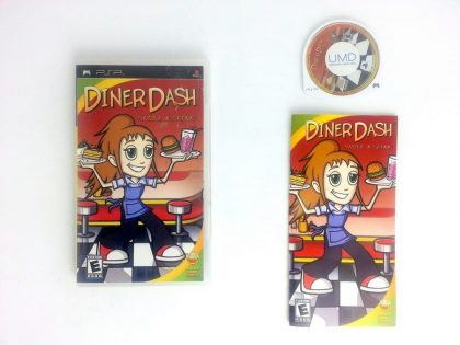 Diner Dash Sizzle and Serve game for Sony PSP -Complete
