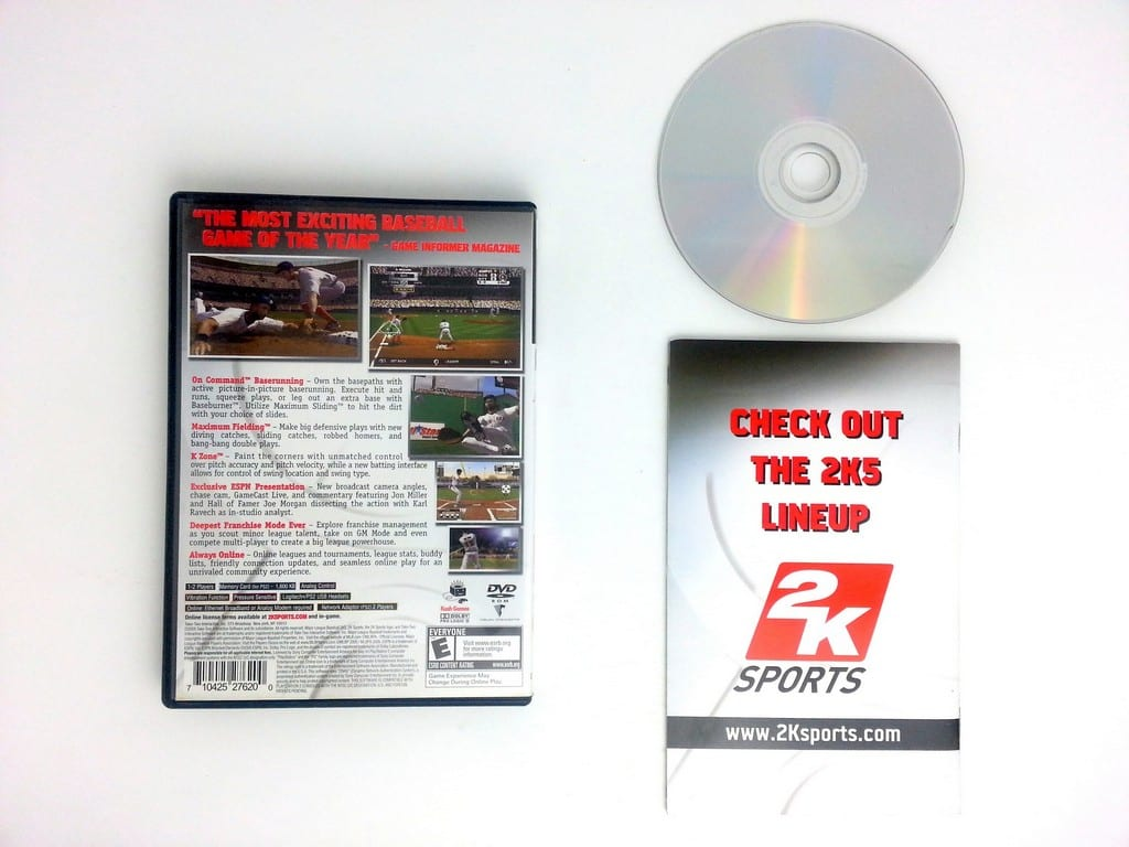ESPN Major League Baseball 2K5 game for Playstation 2 (Complete) | The Game Guy