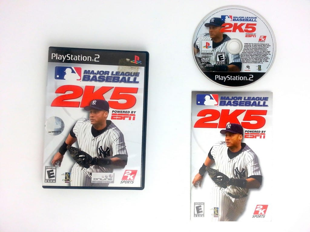 ESPN Major League Baseball 2K5 game for Sony Playstation 2 PS2 -Complete