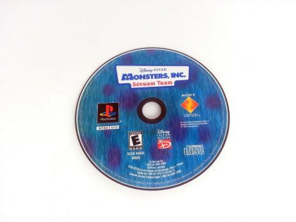 Monsters Inc Scream Team game for Sony Playstation PS1 PSX - Loose