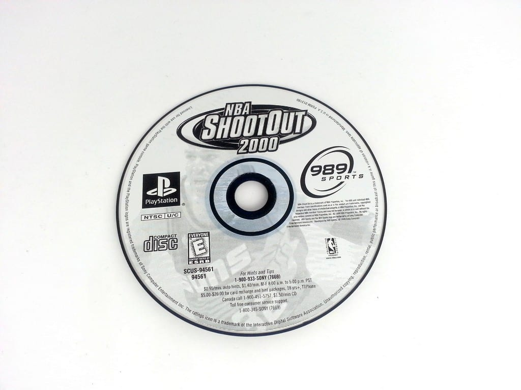 NBA ShootOut 2000 game for Sony Playstation PS1 PSX - Loose