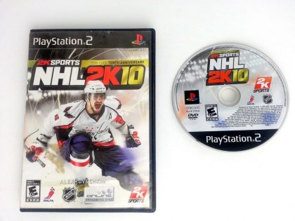 NHL 2K10 game for Sony Playstation 2 PS2 -Game & Case