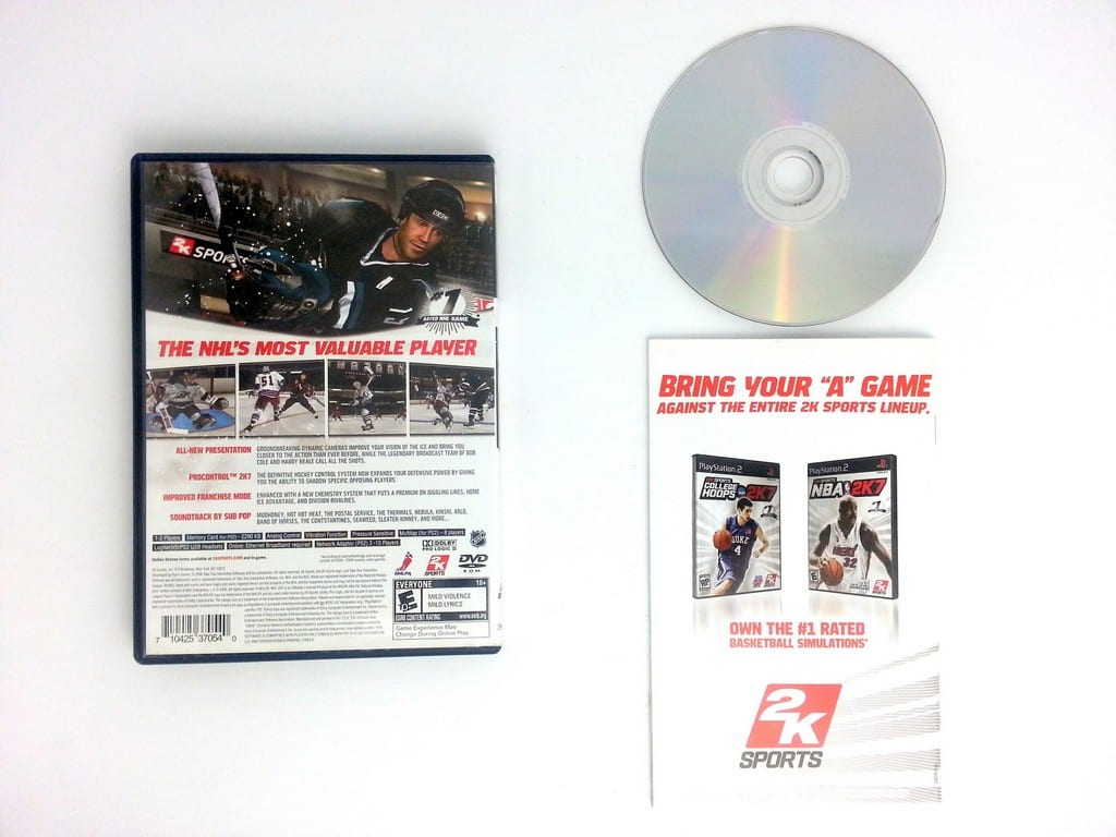 NHL 2K7 game for Playstation 2 (Complete)   The Game Guy