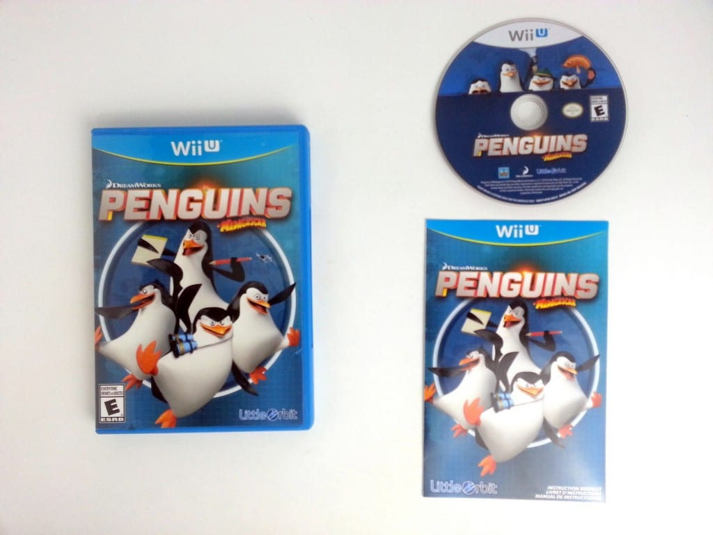 Penguins of Madagascar game for Nintendo Wii U -Complete