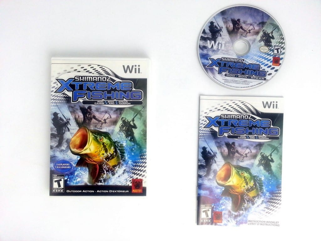 Shimano xtreme fishing game for wii complete the game guy for Wii u fishing game