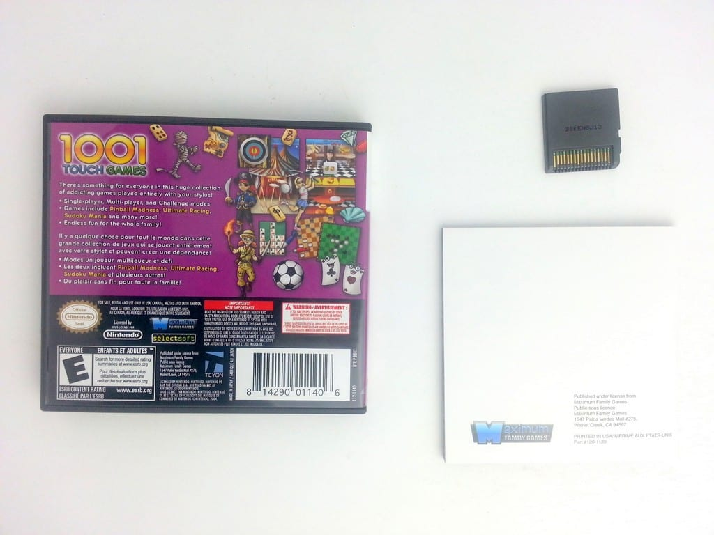 1001 Touch Games game for Nintendo DS (Complete) | The Game Guy