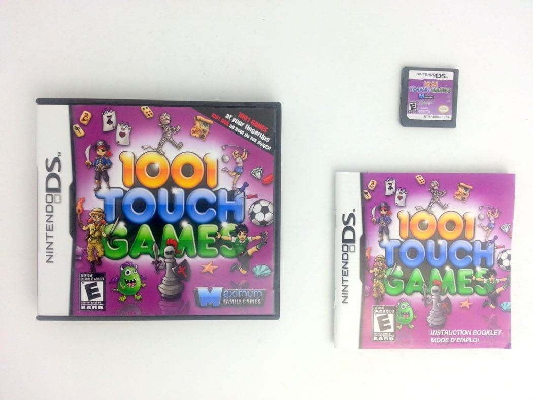 1001 Touch Games game for Nintendo DS -Complete