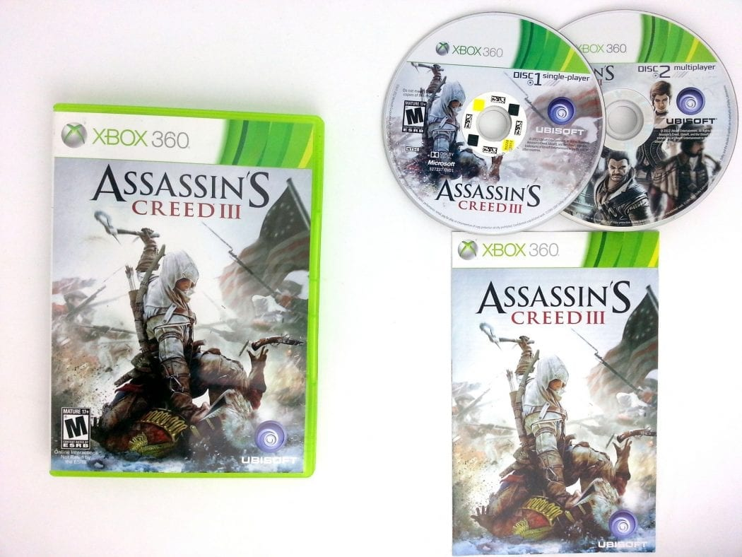 Assassin's Creed III game for Microsoft Xbox 360 -Complete