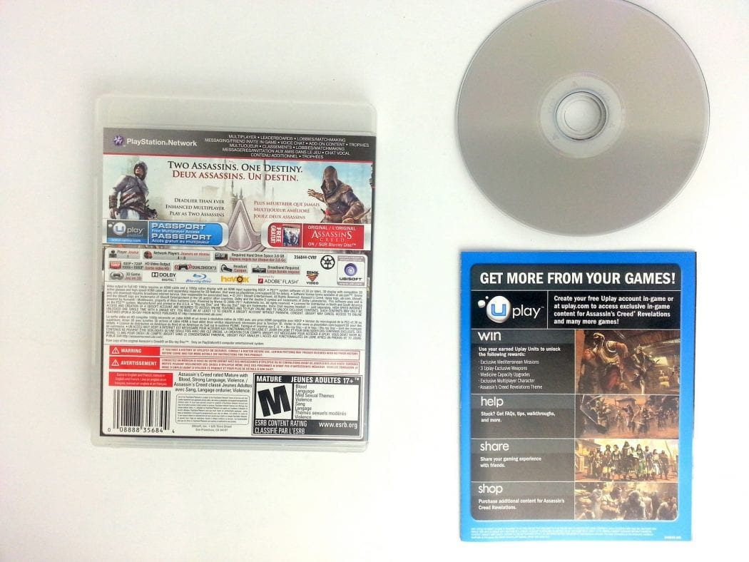 Assassins Creed Revelations game for Playstation 3 (Complete) | The Game Guy