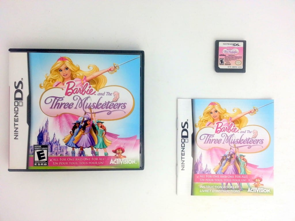 Barbie and the Three Musketeers game for Nintendo DS -Complete