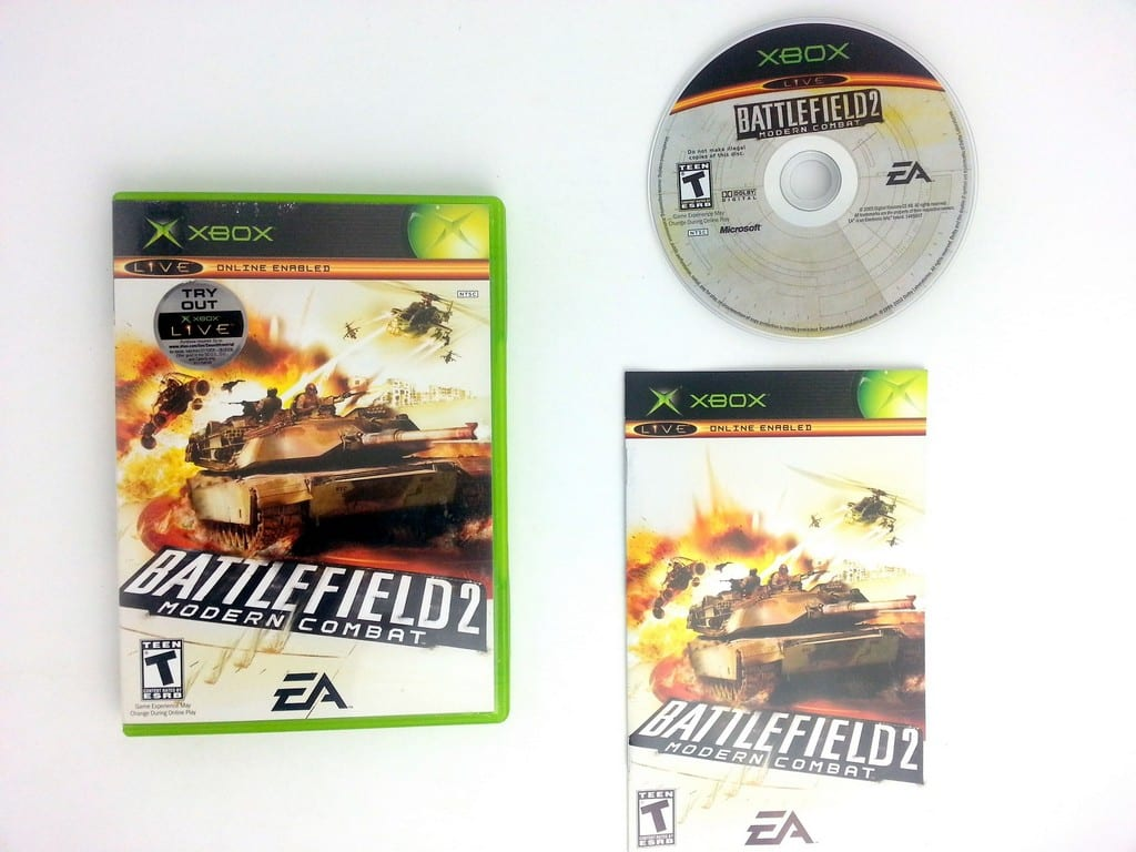 Battlefield 2 Modern Combat game for Microsoft Xbox -Complete