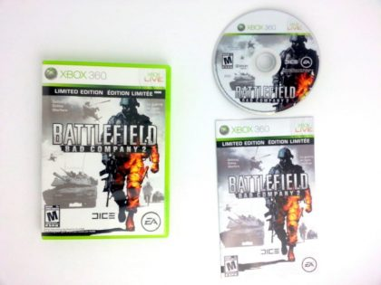 Battlefield: Bad Company 2 game for Microsoft Xbox 360 -Complete