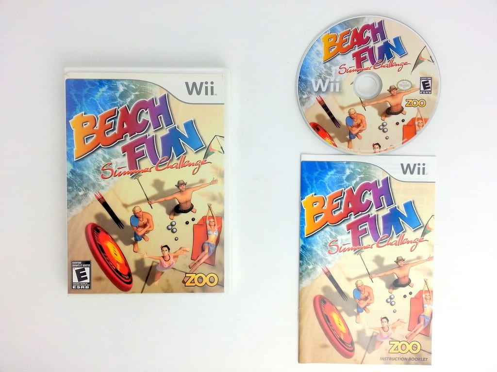 Beach Fun: Summer Challenge game for Nintendo Wii -Complete