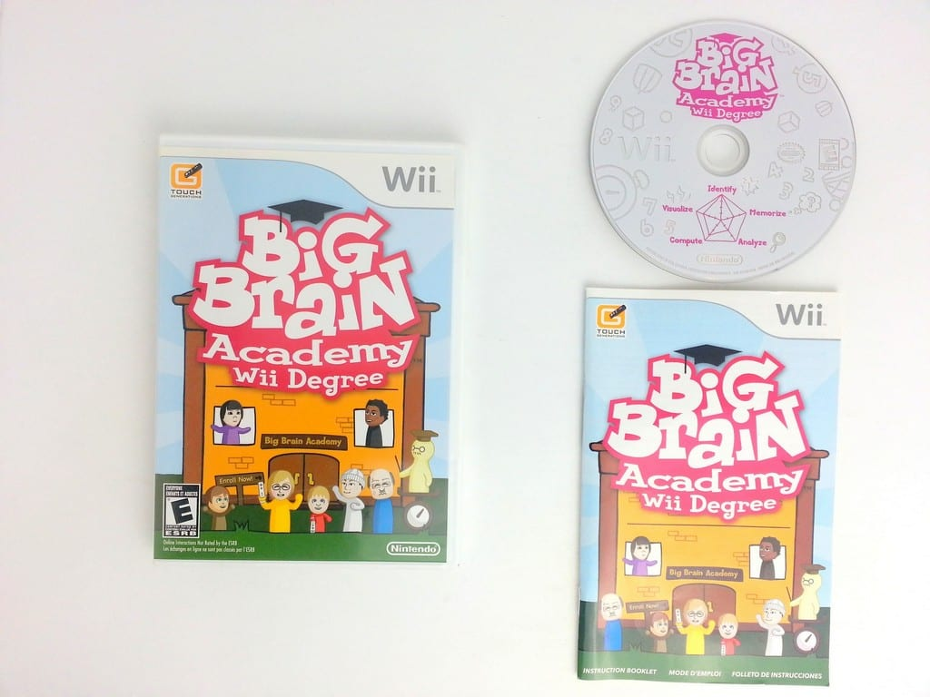Big Brain Academy Wii Degree game for Nintendo Wii -Complete